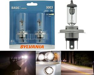 Sylvania Basic 9003 HB2 H4 60/55W Two Bulbs Head Light High Low Beam Replace DOT