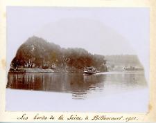 France, Les bords de la Seine à Billancourt 1901, Vintage citrate print Vintage