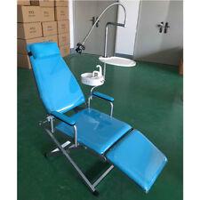 Portable Dental Mobile Folding Chair Stool Led Light Dental Tray Waste Basin Set