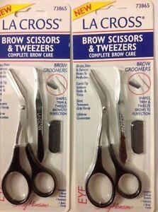 LOT OF 10 - Sally Hansen La Cross Brow Scissors & Tweezers Sets #73865 NEW