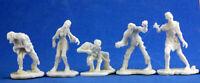 5x ZOMBIE MIX - BONES REAPER figurine miniature jdr d&d undead mort vivant 77342