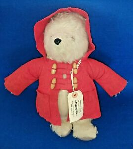 Vintage Gabrielle Paddington Bear 14 inches Tall With Original Red Coat