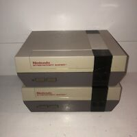 *BLINKY LIGHT* AS-IS 2 Original Nintendo Nes Console Systems ONLY NES-001 Lot