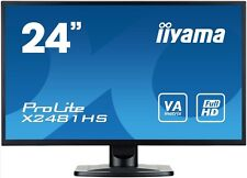 iiyama ProLite X2481HS 23.6 inch LED Monitor - Full HD, 6ms, Speakers, HDMI, DVI