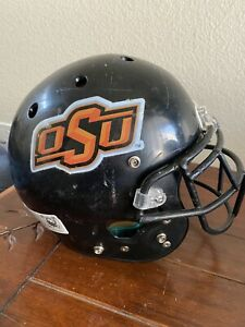 Customized Oklahoma State Cowboys Schutt Black Matte Football Helmet SZ Small