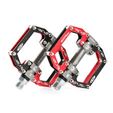 RockBros Cycling Aluminum Pedals Bike Sealed Bearing Bicycle Pedals Black Red
