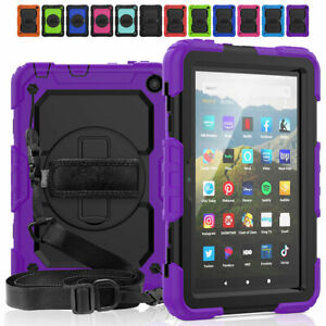 For Amazon Fire HD 8 /8 Plus 10th Gen Tablet Case Stand Cover w Screen Protector