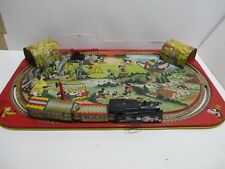 DISNEY TIN LOTHO WIND-UP TRAIN MICKEY MOUSE & FRIENDS--EXCELLENT BY MARX