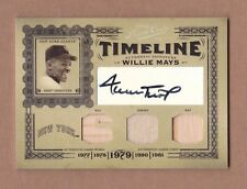 2005 prime cuts WILLIE MAYS auto sp #1/5 TRIPLE jersey GIANTS signed patch 1/1