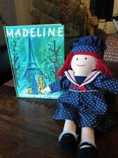 "Eden 1999 Madeline 14 "" Plush Doll with New Madeline Book"