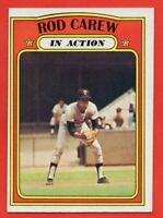 1972 Topps #696 Rod Carew In Action NEAR MINT High Series Minnesota Twins HOF