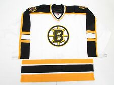 BOSTON BRUINS AUTHENTIC AWAY TEAM ISSUED REEBOK 6100 HOCKEY JERSEY SIZE 58
