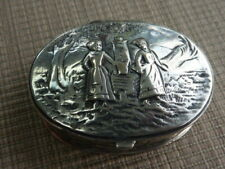 Antique German 800 Silver Miniature Pill Box  (55898)