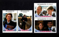 Funafuti TUVALU, Sc #62-63ab, MNH, 1986, Royalty, Andrew, Sarah, A450IHIc