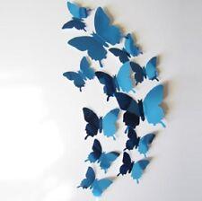 3D BLUE BUTTERFLIES WALL ART DECAL SET OF 12 (BRAND NEW)