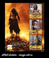Autograph 8x10 - Conan the Barbarian - Cast Signed (Jason Momoa +2) - JSA