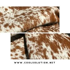 Cowhide Leather Sheets, Brown Salt and Pepper, Hair on Hide , Cut to size