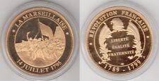 Médaille contemporaine Française La Marseillaise 14 juillet 1795