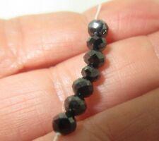 Loose Natural Black Diamond Beads 4.0-4.5mm 4.30ctw