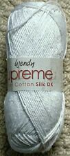 Wendy Supreme Luxury Cotton Silk DK Shade 1501 White 100g Ball