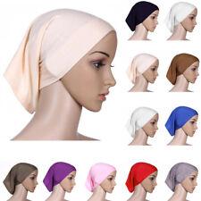 Damen Islamisches einfarbig Hijab Muslima  Kopftuch Kopfbedeckung Kappe