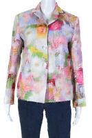 Shushu/Tong Womens Floral Print Long Sleeve Blazer Pink Size UK 6