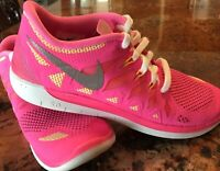 Nike Free 5.0 Lava Girls Shoe Size 5 Youth Purple Hot Pink Brand New