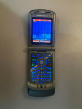 Motorola Razr V3m - Silver (Verizon) Cellular Phone - Case & Charger Included