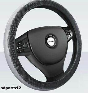 Coprivolante Ecopelle Grigio Nero Copri Sterzo Per Toyota Nissan