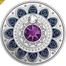 2017 Canada Zodiac Aquarius $3 Silver Coin with Swarovski® Crystals