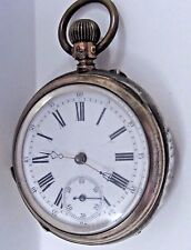Antique Early 1880's Lds Silver 8.00 Pocket Watch 46 mm,