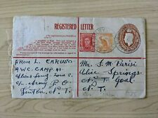 Australia WWII Military Registered Letter to Alice Springs Jail Northern Terr