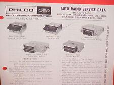1969 FORD MUSTANG RANCHERO LINCOLN MERCURY COUGAR PHILCO AM RADIO SERVICE MANUAL