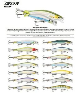 Rapala RipStop // RPS12 // 12cm 14g Fishing Lures (Choice of Colors)