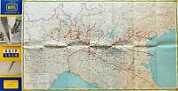 Scienza Tecnica - Cartina Nord Italia Metanodotti Snam Agip - 1955