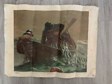 The Herring Net By Winslow Homer 1836-1910, Canvas Print