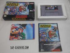 Mario's TIME MACHINE (Super Nintendo Entertainment) COMPLETE IN BOX! w/ Poster