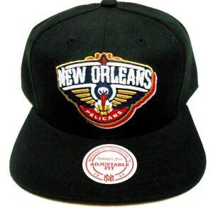 Mitchell /& Ness New Orleans Pelicans Snapback Casquette r/éfl/échissante Gris anthracite