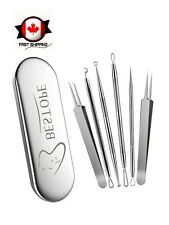 Blackhead Remover Tool Kit w/ 6 Different Extractor Tool made w/ Stainless Steel