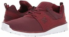 DC SHOES HEATHROW SKATE LO SNEAKERS MEN SHOES BURNT/HENNA ADYS700071 SZ 10 NEW