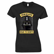 Halloween Womens TShirt Costume Police Station Criminal Skeleton Gift Idea