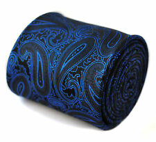 Navy Blue Paisley Mens Tie by Frederick Thomas FT790