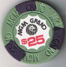 MGM Grand $25.00 House Mold Casino Chip Las Vegas Nevada