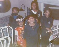 Old Vintage Photograph African American Children Wearing Costumes on Halloween