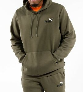 MEN'S PUMA Essential Embroidery Logo Sweat Hoodie + Matching Pants Tracksuits