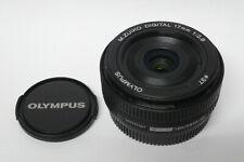 Olympus M.Zuiko Digital 2,8 / 17 mm  Objektiv schwarz gebraucht