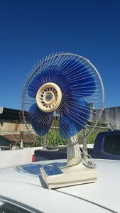 Vintage Toshiba Electric Oscillating Fan ES-615C  Japan Works Great, Some Wear