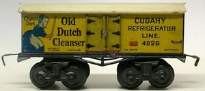 """VINTAGE RARE BING US-MARKET 8-WHEELED """"OLD DUTCH CLEANSER"""" AD FREIGHT CAR"""