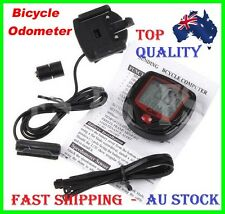 WATERPROOF WIRED DIGITAL LCD BIKE BICYCLE COMPUTER ODOM ODOMETER SPEEDOMETER