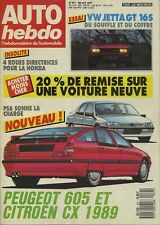 AUTO HEBDO n°571 du 29 Avril 1987 VW JETTA GT 16V HONDA 4WS